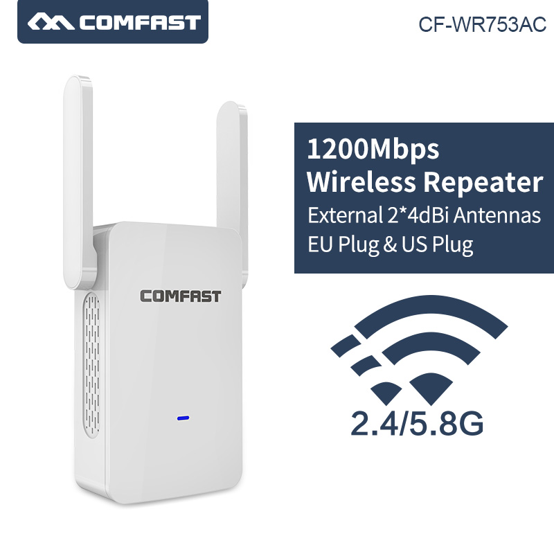 5Ghz Wireless WiFi Repeater Wifi Extender 1200Mbps Wi-Fi Amplifier 802.11N/B/G/AC Booster Repetidor Wi fi Reapeter Access Point