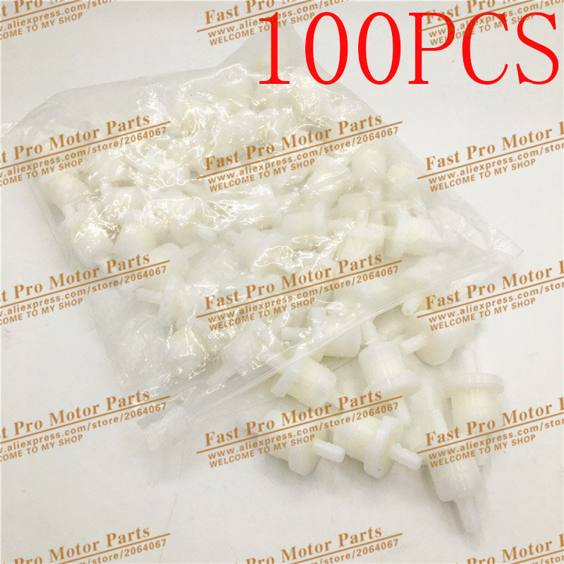 100X UNIVERSAL Plastic Inline Fuel Gas Filters Gas Fuel Filter 50 90 110 150 250 Chinese SCOOTER Go Kart ATV ROKETA TAOTAO SUNL
