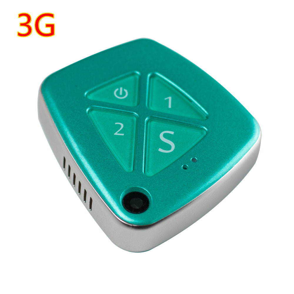 Toogee 3G Mini Personal GPS Tracker Real Time Tracking SOS Alarm Free Platform for Kids Elderly Adult with Camera TK33 (Green)  mini portable gps locator real time tracker sos communicator with lanyard for car person