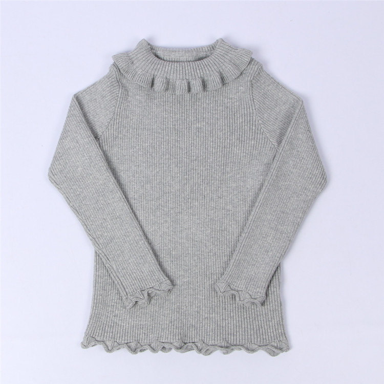 faa2bcc83f68 Baby Girls Ribbed Sweater 2018 Girls Sweaters Solid Candy Color ...