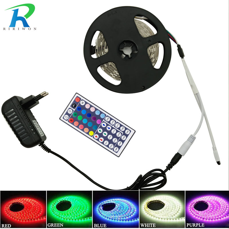 RiRi won SMD5050 10m 5m 30Leds/m led Tape Waterproof diode ribbon 44K 24k Wifi Controller DC 12V adapter set RGB LED Strip Light riri won smd5050 rgb led strip waterproof led light dc 12v tape flexible strip 5m 10m 15m 20m touch rgb controller adapter