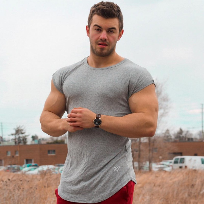 Summer Gyms Cotton T-shirt Man Stadium Stringer Fitness