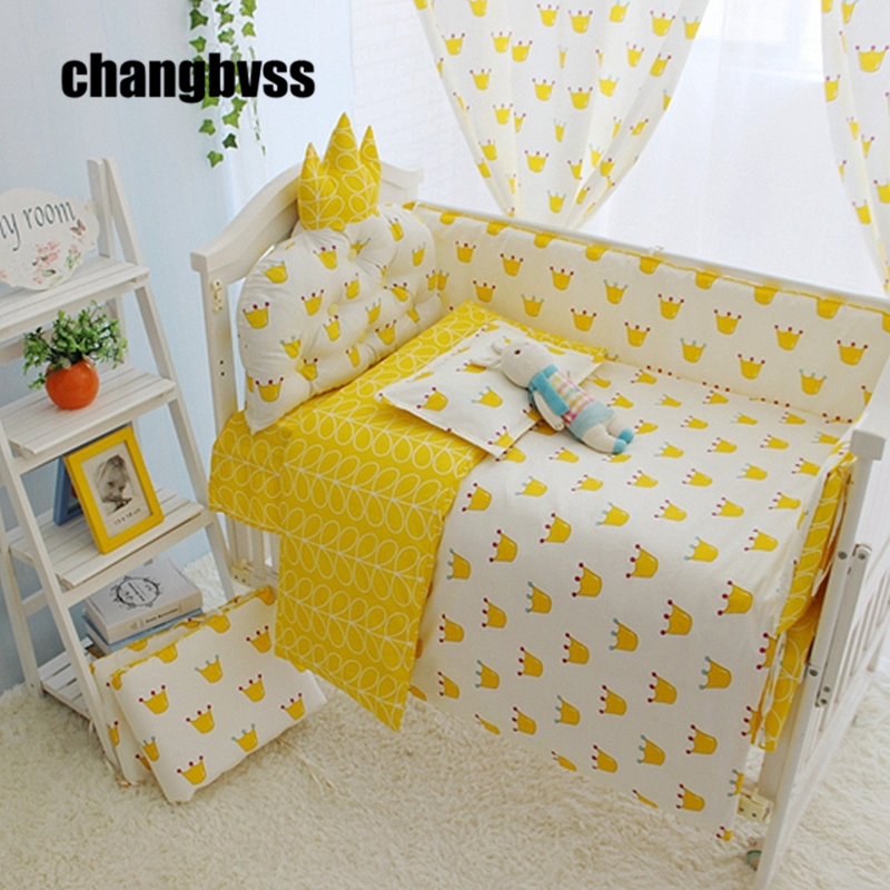 ФОТО High Quality Cotton Material Made Baby Bedding Crib Bed Set, Infants Bed Crib Sheets Baby Bed Quilts Baby Cot Bed Bumper