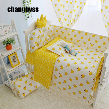 High Quality Cotton Material Made Baby Bedding Crib Bed Set, Infants Bed Crib Sheets Baby Bed Quilts Baby Cot Bed Bumper