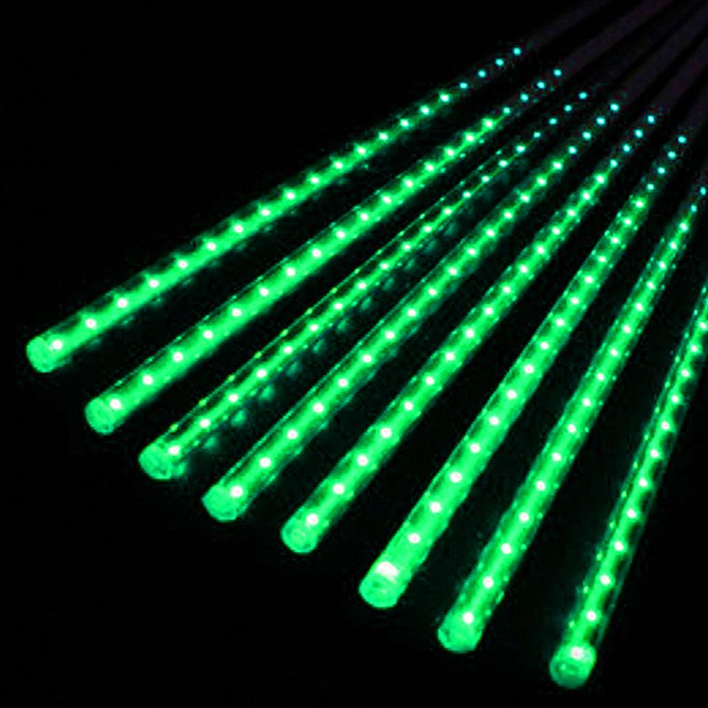 NEW 50cm LED Lights Meteor Shower Rain 8Tube Xmas Tree Outdoor Light US Plug H15