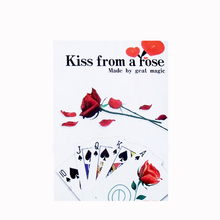 Free shipping magic romantic cards kiss from a rose magic poker magic tricks