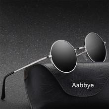 oculos Polarizing sunglasses women classic small round frame retro brand design trend steampunk