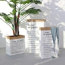 Европейский стиль Мульти картина крафт бумага пол завод Бонсай цветок свадебные декоративные бумажные ваза домашний декор для хранения аксессуары