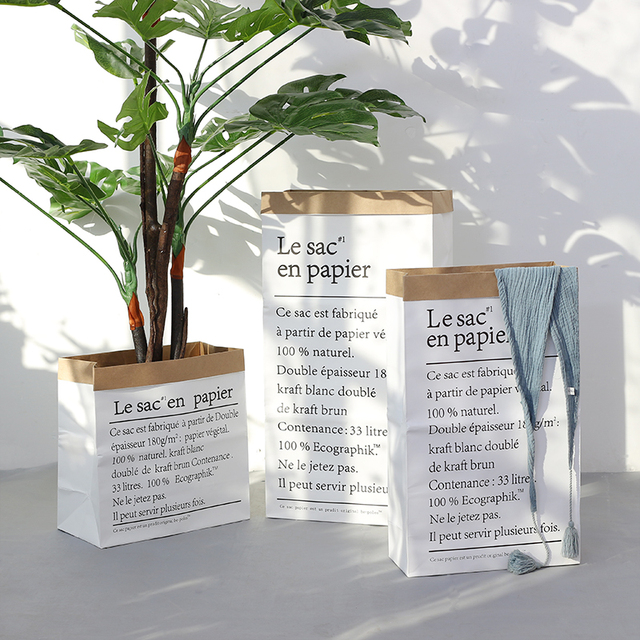 Europe Style Multi Painting Kraft Paper Floor Plant Bonsai Flower Wedding Decorative Paper Vase Home Storage Decor Accessories