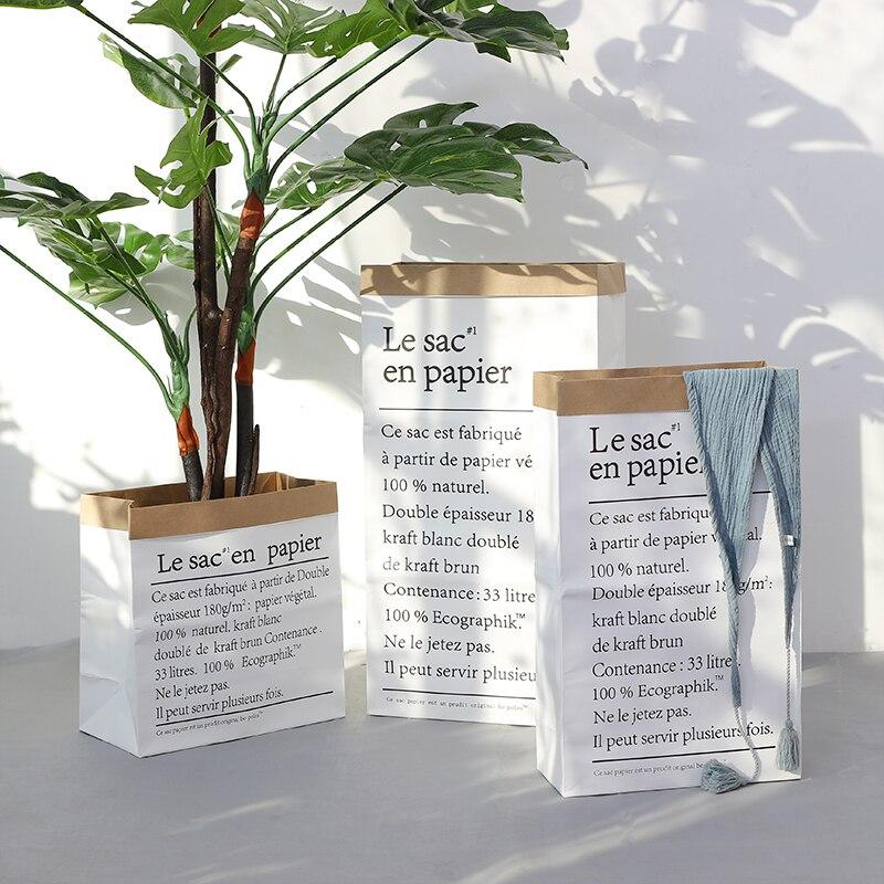 Flor do Casamento de Papel Vaso de Armazenamento em Casa Acessórios de Decoração Estilo Europa Multi Pintura Piso Planta Bonsai Kraft Papel Decorativo