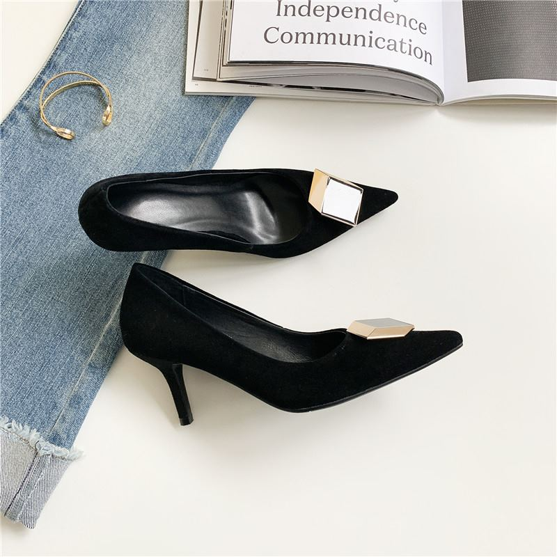 34 Cm 5 Größe as 5 Qualität Cm High Picture Schuhe Volles 7 As Echtes Leder Büro 4 Sexy Damen 43 Heels Yinkoget Picture Frühling Hohe Große Frauen wFRqAEA