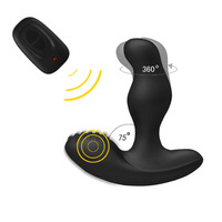 Levett 3 Mode Rotating 16 Mode Vibration Male Prostate Massager G Spot Stimulate Vibrator Butt Plugs Anal Sex Toys For Men Women