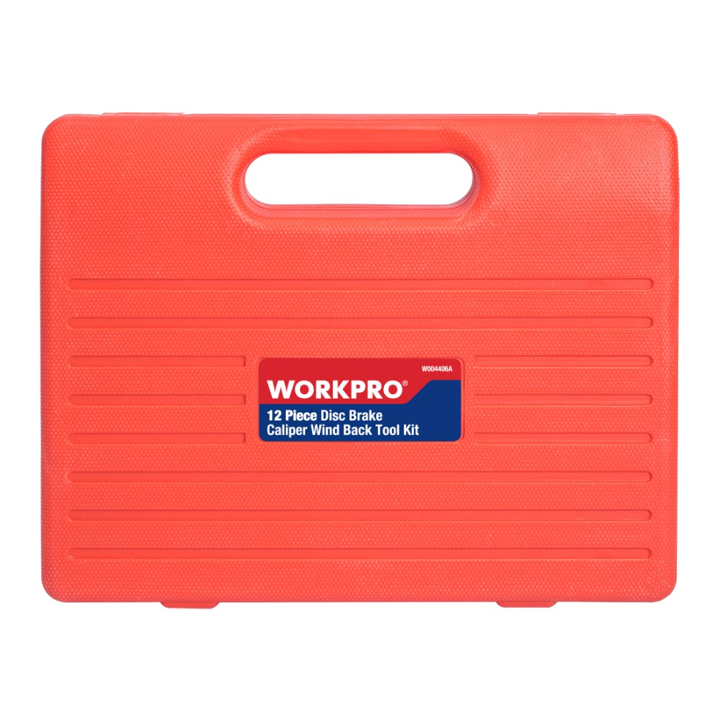 WORKPRO 12PC Car Repair Tool Set for Brake Cylinder Auto Disc Brake Caliper Wind Back Tool Kits