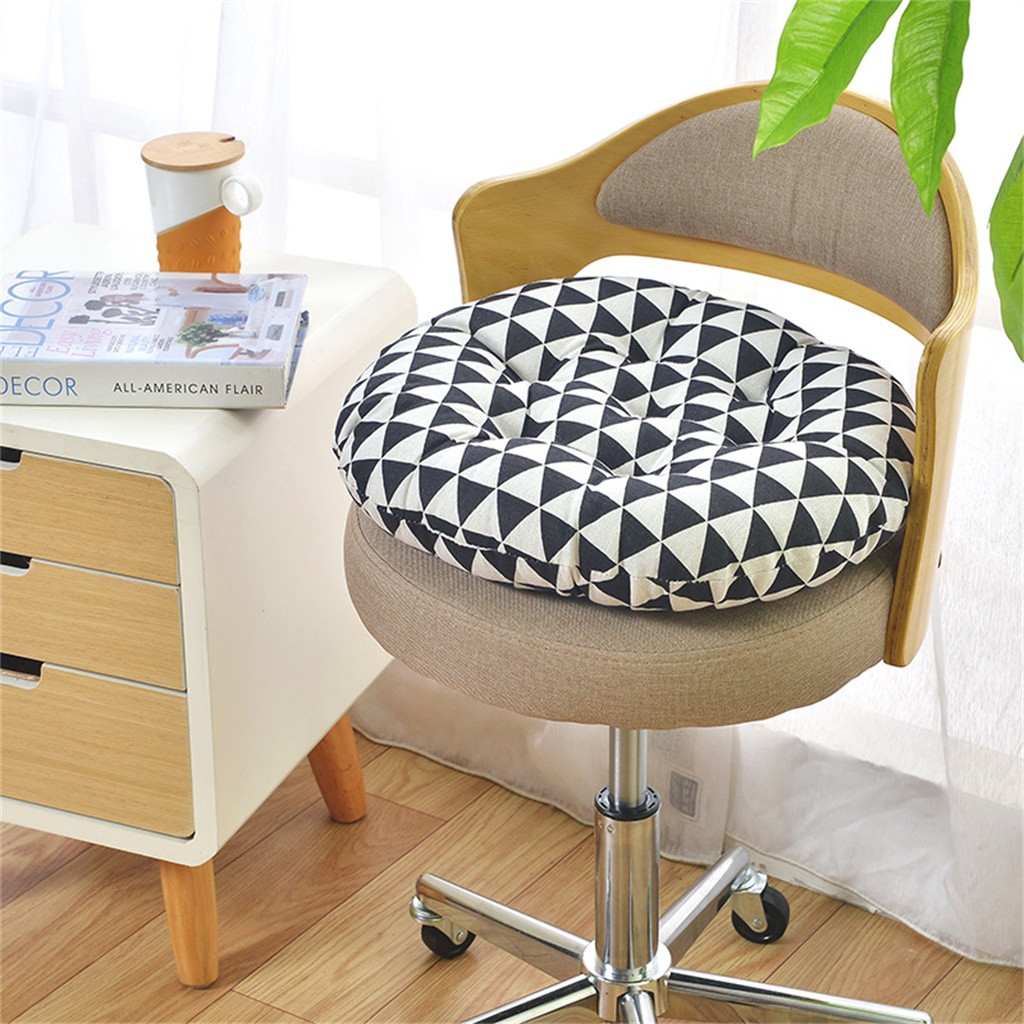 Gacsidy Store Car Seat Cushion Chair Cushion Round Cotton Upholstery Soft Padded Cushion Pad Office