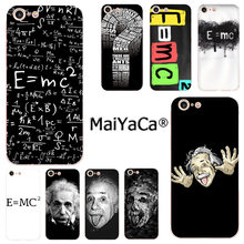 MaiYaCa e mc2 E=mc Math Albert Einstein New Arrival Fashion phone case for iphone 11 pro 8 7 66S Plus X 10 5S SE XR XS XS MAX(China)