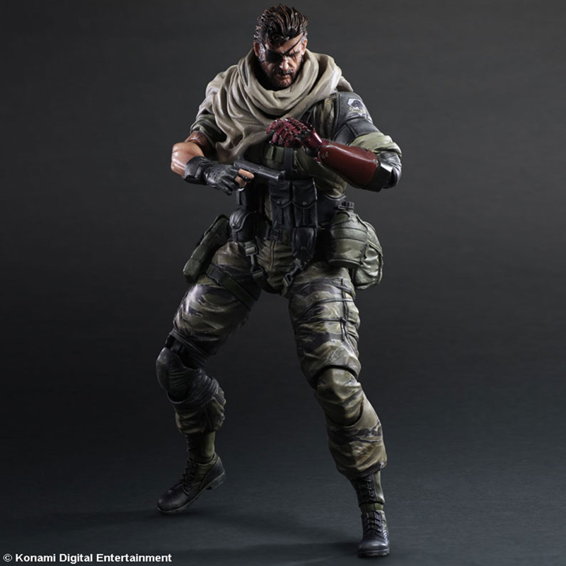 ФОТО New Arrival Play Arts KAI Metal Gear Solid SNAKE desert tiger Old Snake PVC Action Figure Collectible Model Toys Gift PA0015