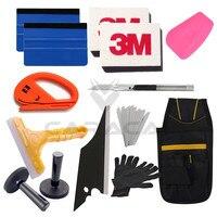Auto Wrap Vinyl Gereedschap Kits 3 M Zuigmond Mes 2 Magneet Decals Sticker Toepassing