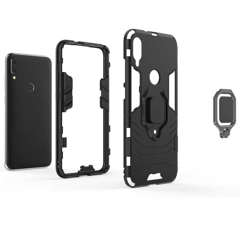 Car Mount Holder Case Metal Ring Stand Magnetic Cover for Xiaomi 5X 6X Max 2 Max 3 Mi Play Mi 9 Pocophone F1 in Fitted Cases from Cellphones Telecommunications