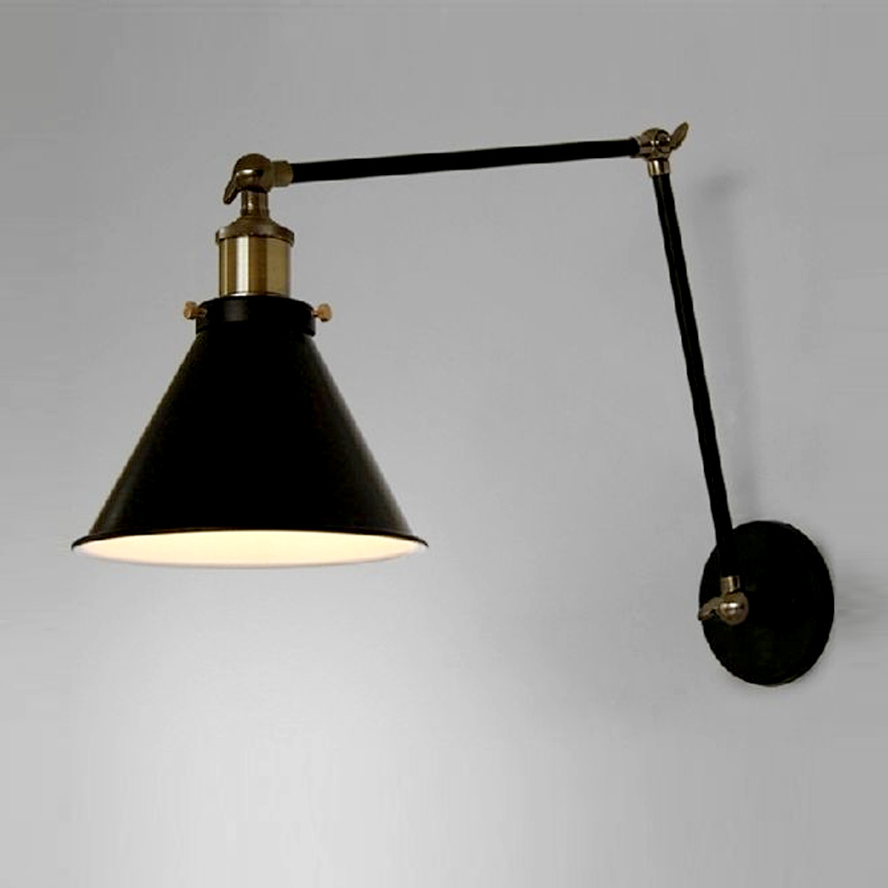 Awesome Aliexpress.com : Buy Edison Vintage Industrial Loft Adjustable Swing Arm  Wall Sconce Retro Warehouse Ambient Lighting E27 American Country Wall Lamps  From ...