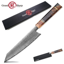 Дамаск Кухня Ножи японский шеф-повар Ножи VG10 Сталь kiritsuke ножи Пособия по кулинарии суши профессиональная рыбалка Филейный Нож для сашими