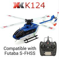 Original XK K124 EC145 6CH Brushless motor 3D 6G System RC Helicopter Compatible with FUTABA S FHSS RTF VS Wltoys V977