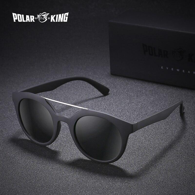 Polarking marca dupla ponte óculos de sol polarizados para homens óculos de sol para viagens de condução