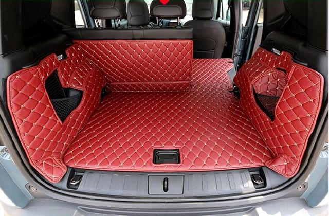 full rear trunk tray liner cargo mat floor protector foot pad mats