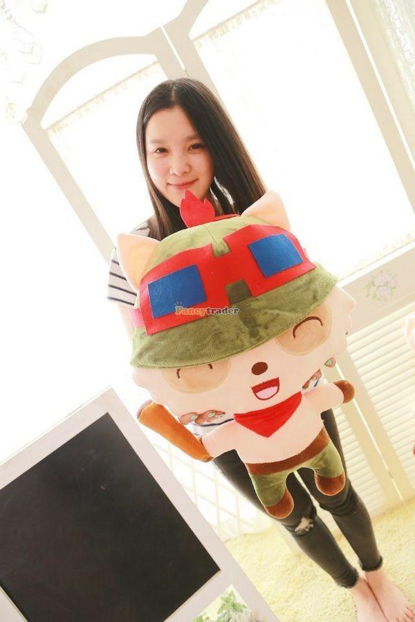 Fancytrader 33\'\' 85cm Super Cute Soft Plush Biggest LOL Teemo Toy, Free Shipping FT50149 (1)