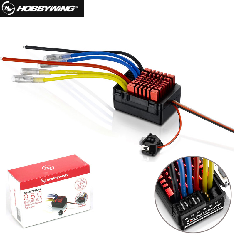 Original Hobbywing QuicRun WP 880 80A Dual Brushed Waterproof ESC Speed Controller For 1/8 RC Car