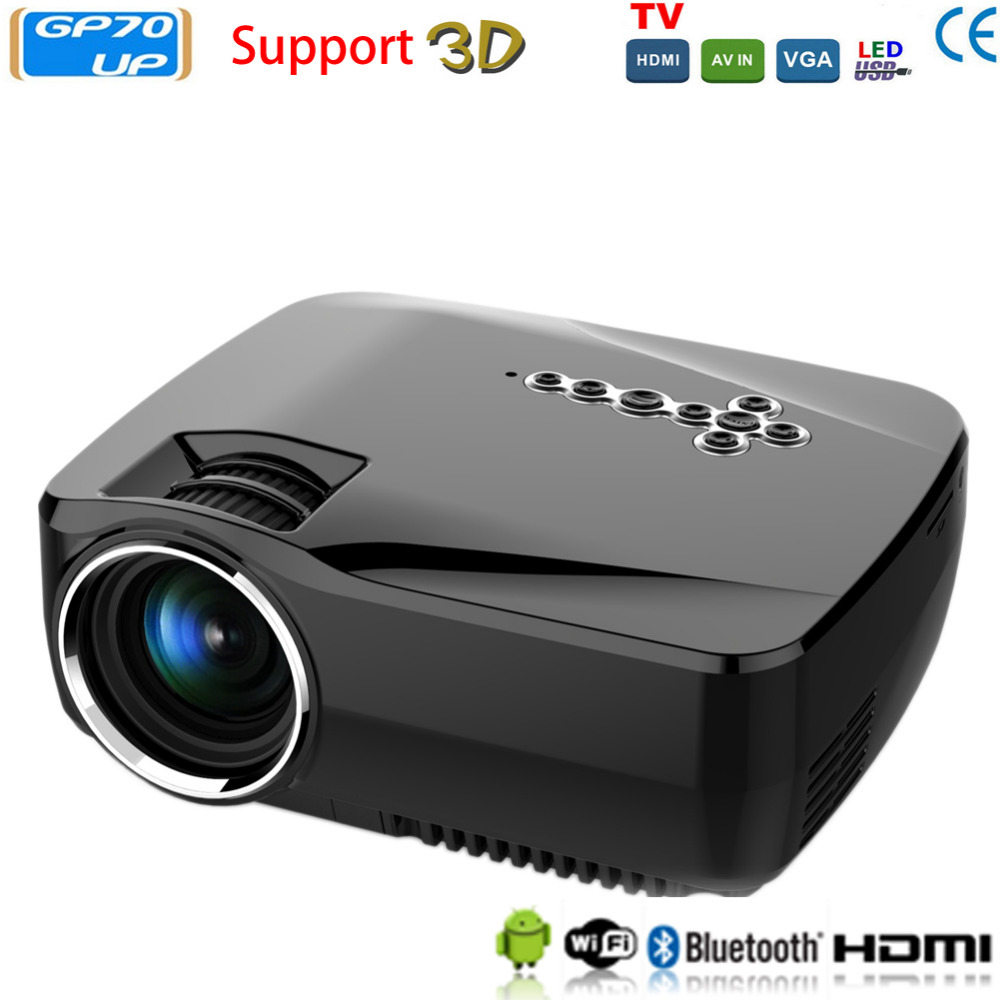 3d android 4 4 projector 1200 lm support 1920x1080p analog for Projector tv reviews