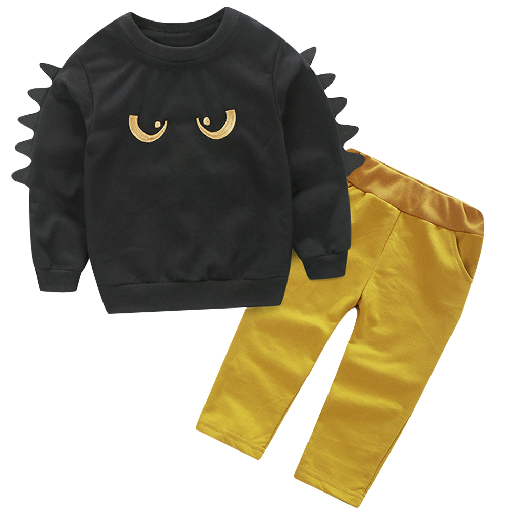 Kids New Fashion Autumn Spring Clothing Sets Childrens Sports Suit Boys Clothes Long Sleeve T-Shirt + Pants(Size:80cm)