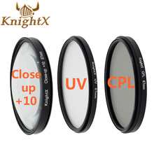 KnightX polarizer filter cpl uv 67mm 52mm 58mm for nikon d3300 d3200 d5200 d5100 d5300 Canon