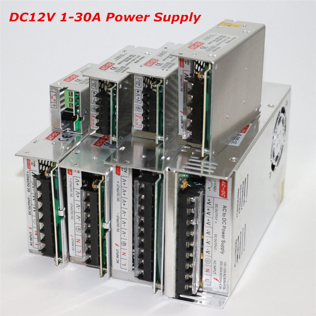 100-240V to 12V 1A 2A 3A 5A 10A 15A 20A 30A Lighting Transformer Power Supply 12W 24W 36W 60W 120W 180W 240W 360W AC DC Adapter