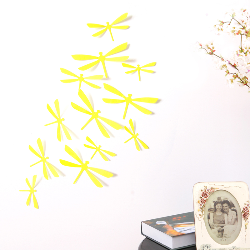 new wall sticker decorative decal 3d Dragonfly wall stickers home ...