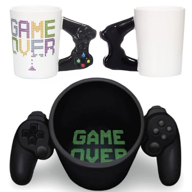 Новинка, 380 мл, креативная кофейная кружка, 3D игровой контроллер, кружка с ручкой, керамическая чашка, молочный чай, кружки Gameboy, подарок на день рождения, Рождество
