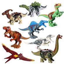 8pcs Dinosaur Building Blocks Toys,Buildable Dinosaur Building Blocks Figures T Rex,Triceratops, Velociraptor