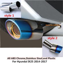 For Hyundai IX35 2014 2015 2016 2017 car cover muffler exterior end pipe outlet dedicate stainless