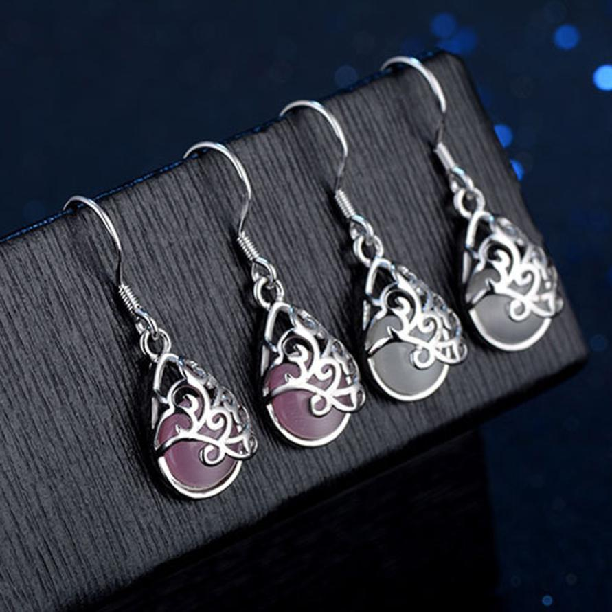 The Popular Wedding Jewelry Cats Eye Style Earrings Fashion Love Wishing Fashion Pool Wedding Earrings Trendy Elegant Earrings