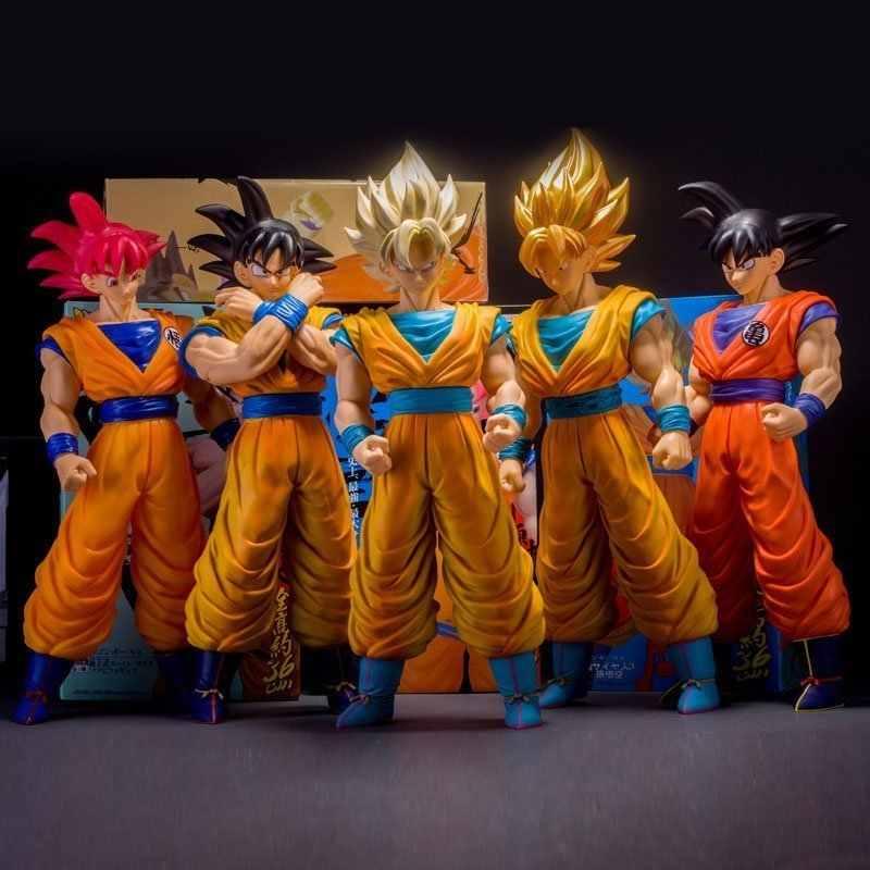 Аниме Dragon Ball Z 42 см Большой размер Сон Гоку фигурка супер сайян Dragon Ball z brinquedos ПВХ экшн-фигурка Драконий жемчуг зет горячие игрушки куклы