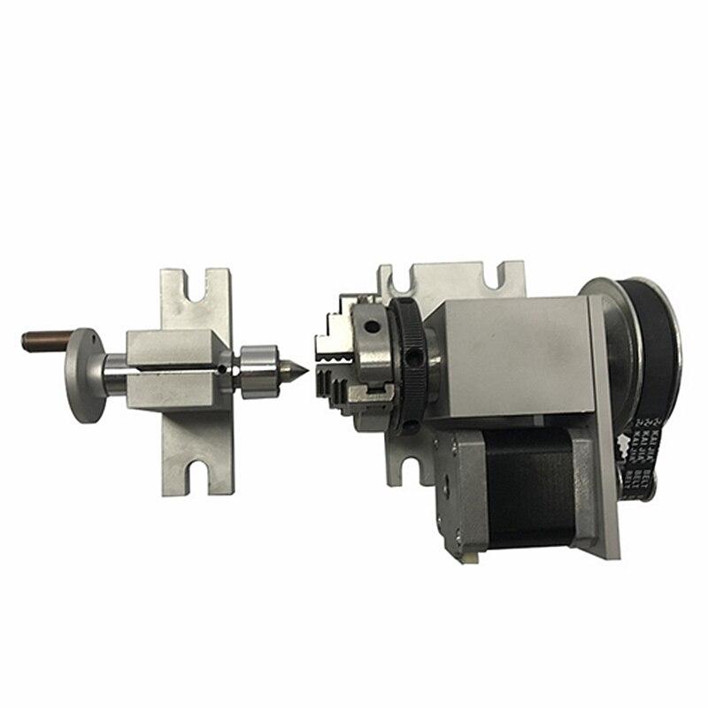 cnc router machine rotary axis chuck 50mm activity tailstock austria ruwido i 1k 100k 220k 470k axis length 50mm
