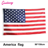 Candiway USA Flags American US Vivid Color and UV Fade Resistant Canvas Header Double Stitched USA Banner Flags