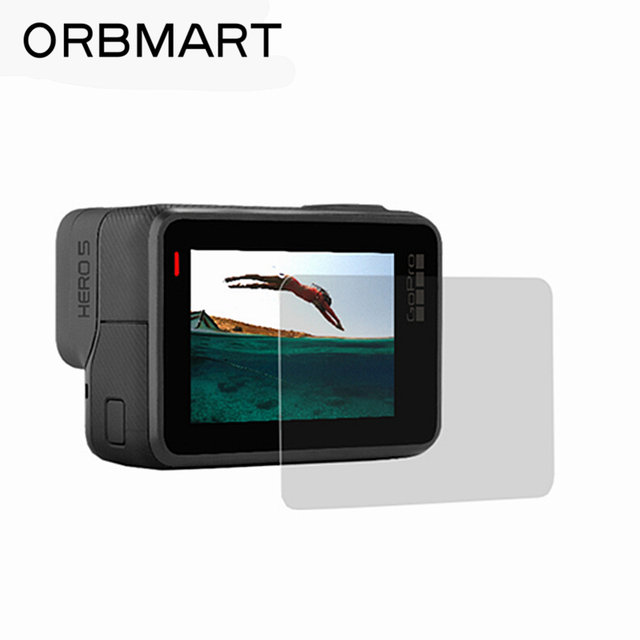 ORBMART Tempered Glass Screen Protector For Go Pro Gopro Hero 5 6 Sport Camera Accessory