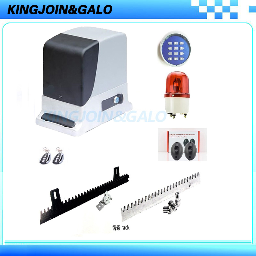 Electric remote control sliding gate opener motor operator for 500-800kgs Residential door protection automated system garage door mechanical operator for counter balanced up and over doors of residential use