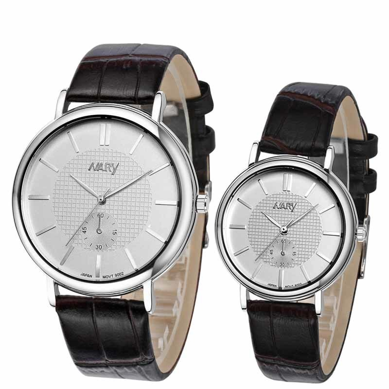 High Quality Fashion Brand Leather Strap Quartz Watch Women And Men Watches Commemorate Lovers Gift Free