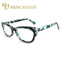 IVSTA Mens Glasses Frames Branded Design Acetate Optical Rectangle Shape Nerd High Quality Spectacle Frame Myopia