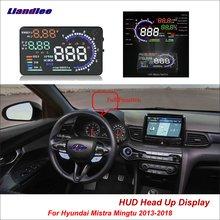 купить Liandlee Car Head Up Display HUD For Hyundai Mistra Mingtu 2013-2018 Safe Driving Screen OBD II Speedometer Projector Windshield дешево
