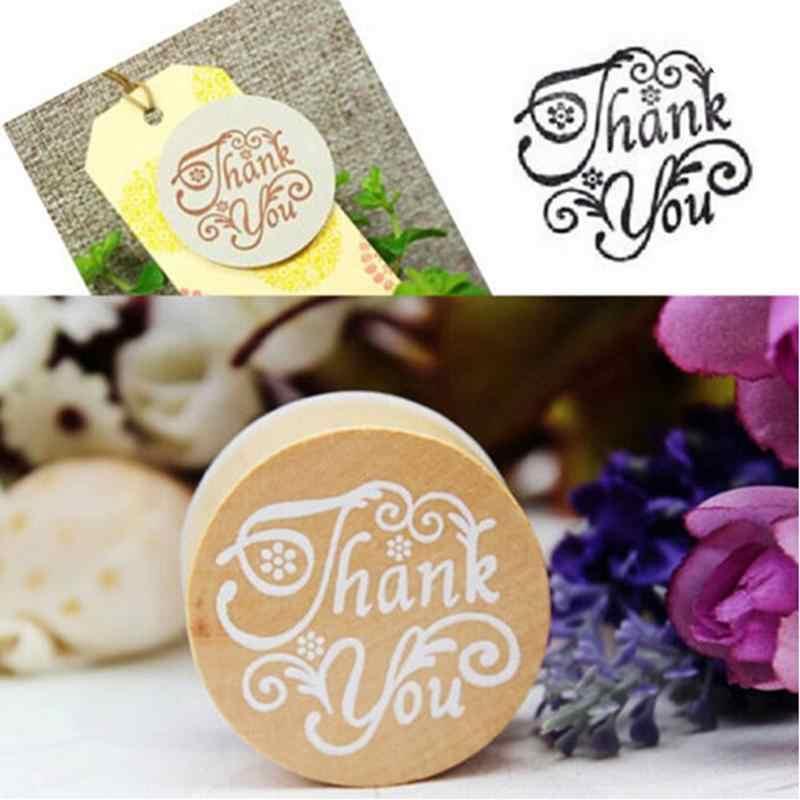 Retro DIY Vintage Floral flor patrón redondo madera sello de goma álbum de recortes amor usted gracias carta sello tarjetas Decoración