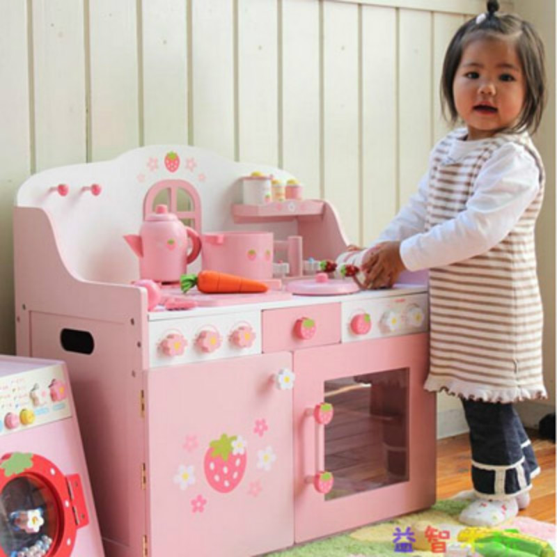 High quality wooden kitchen cabinet toy set,large safty developmental  play house .birthday gift.6 designs mother garden high quality wood toy wind story green tea wooden kitchen toys set