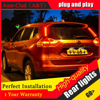 Car Styling LED Tail Lamp for Nissan X-trail Taillights 2014 Rouge Rear Light DRL+Turn Signal+Brake+Reverse auto Accessories led