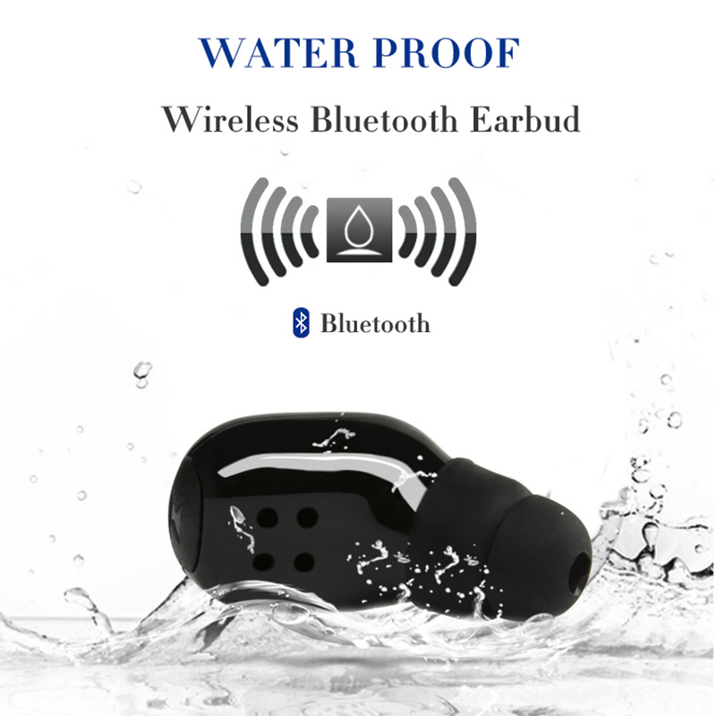 VTIN 1pcs Mini Portable Earphone Wireless Bluetooth V4.1 Earphones IPX8 Waterproof Hands-free Calling Earbuds Headphone w/ Mic vtin sport mini style bluetooth headset mini wireless bluetooth 4 1 with edr headphone portable music business earphone w mic